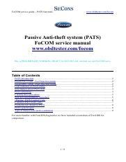 focom-pats-info-en - FoCOM service guide PATS functions www