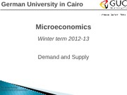 Microeconomics 02- Demand and Supply