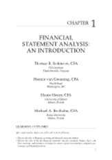 Chapter 1 - Financial Statement Analysist. An Introduction