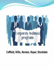 Corporate Wellness Trend Presentation