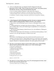 Med Surg Exam 1 questions
