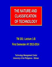 201-1-A_The Nature-and-Classification-of-Technology_I-13-14.ppt