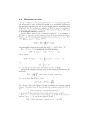 Lecture 14 - Gaussian actions