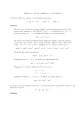 Exam Solutions (3)