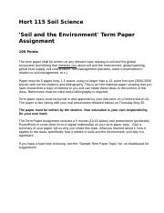 Soil and the Environment Term Paper Project Statement SP10.doc
