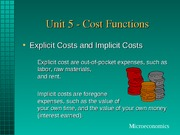 Unit5 Cost Functions