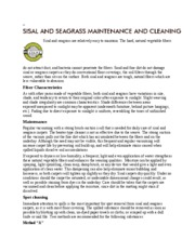 Sisal and seagrass maintenance