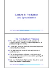 Lecture 4-Production Frontier