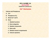 Lecture 14, Calcium and Hormones