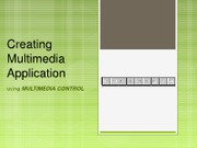 Creating Multimedia Application 2003