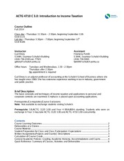 ACTG 4710C - Drory - Course Outline - Fall 2014 - New