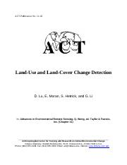 land use and land cover change detection