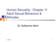 Human Sexuality Chapters 11R & 13R