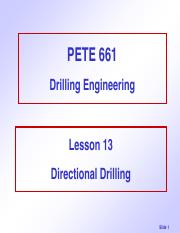 Lecture 13-Directional Drilling