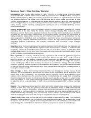 Corning Microarray Technologies - Tuck School of Business