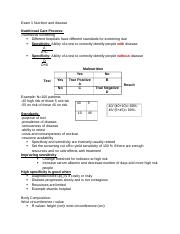 Exam 1 Nutrition and disease (Autosaved).docx