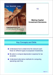 ch 10 (Making Investment Decisions)