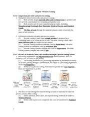 Chapter 4 Process Costing Notes