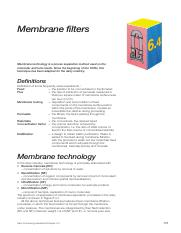06.04Membranefilters