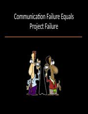 Communication Failure Equals Project Failure[1].ppt