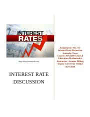 Chase_A_M109-Discussion Interest Rates.docx