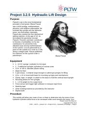 P3.2.5 Hydraulic Lift Design
