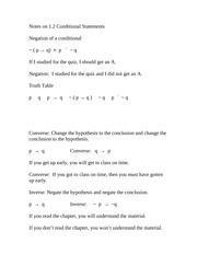 Discrete Math lecture notes negation of a conditional