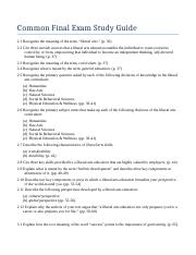 Study Guide Fall 2015 UNIV 101 Common Exam.docx