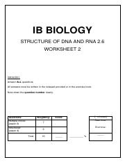 2.6-(02).pdf - IB BIOLOGY STRUCTURE OF DNA AND RNA 2.6 ...