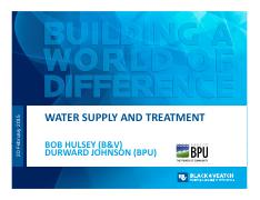 2:20 - Water Supply and Treatment