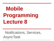 FU_Lecture_19 Notifications, Services, AsyncTask