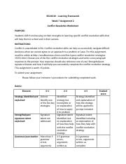 Week 7_Assignment_Conflict Resolution Worksheet