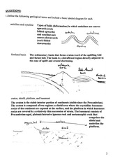 EASC 210  Fall 2014 Geologic Structures Assignment Solutions