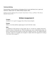 Technical Writing - A3