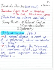 MATH 11 Fall 2013 Rational Functions Class Notes