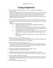 bio homework answers