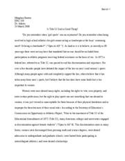 Title ix research paper