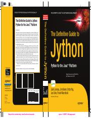 The Definitive Guide to Jython - Python for the Java Platform (2010).pdf