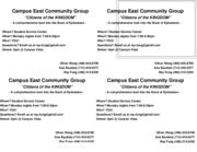 Campus East Community Group Flyer