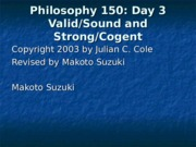 Philosophy 150Day3New
