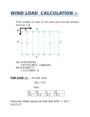 wind load calculation of rcc structure
