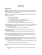 Marketing 350 Ch. 1 Notes