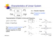 Lecture Notes on Characteristics of Linear System