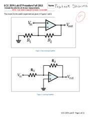 ECE 2074 Lab 07 Amplifier Worksheet