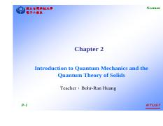 Chapter 2-Introduction to Quantum Mechanics and the Quantum Theory of Solids