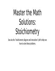 13_Master the Math solution stoichiometry.pptx