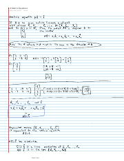 1.4 Matrix Equations