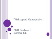 Ch7 part 2 thinking and metacognition