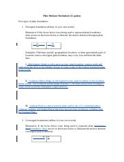 LAB06 Plate Tectonics Worksheet