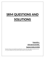 SRM Class SPSS Questions and Solutions.docx